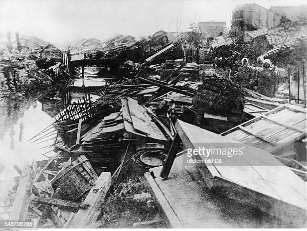 Japan Honshu Tokyo: Great Kanto Earthquake 1923 View of a totally destroyed district - Vintage property of ullstein bild