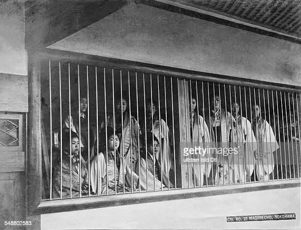 Japan in the early 20th century Prostitutes in Yokohama around 1904 Vintage property of ullstein bild