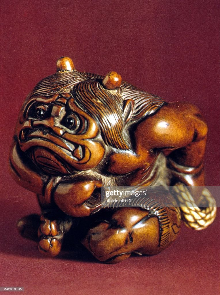 Japanese traditional boxwood carving inro pomander