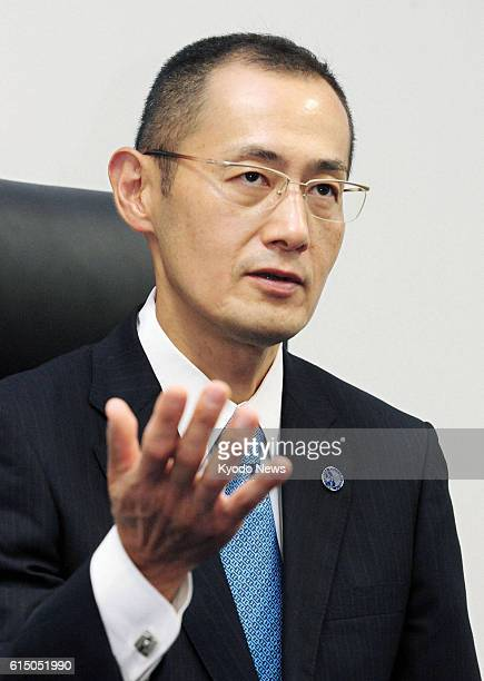 KYOTO Japan Japanese scientist Shinya Yamanaka is interviewed by Kyodo News at Kyoto University in Kyoto on Oct 11 2012 The 50yearold professor at...