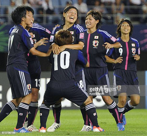 RIFU Japan Japan's Hikaru Naomoto celebrates with teammates after scoring the team's second goal against Mexico during the second half of the Under20...