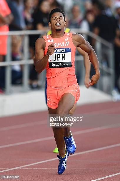 Japan Julian Walsh wins the 4000 meters during the DecaNation track and field meet at the Stade Delort in Marseille southern France on September 13...
