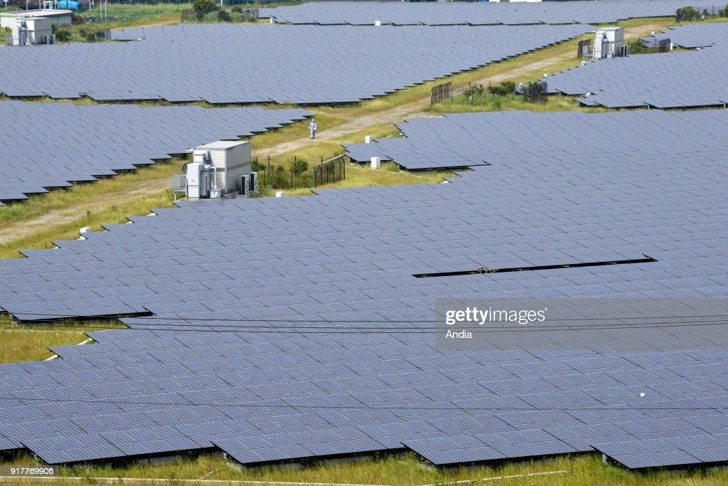 Kawasaki Solar Power Plant in Kanagawa Prefecture.