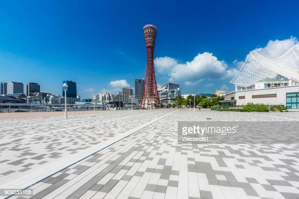Japan, Kobe, Promenade at seaport, Kobe Port Tower
