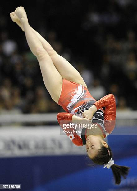 TOKYO Japan Koko Tsurumi of Japan flips in the air during her floor exercise in the women's allaround final at the world gymnastics championships in...
