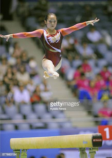 TOKYO Japan Koko Tsurumi performs on the balance beam on June 12 the final day of the NHK Cup at Yoyogi National Stadium in Tokyo She captured her...