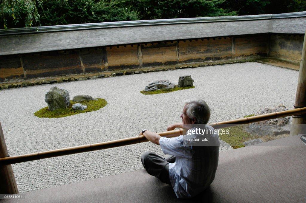 Japan Kyoto Der Zen Garten Des Ryoan Ji Tempel In Kyotot Wurde