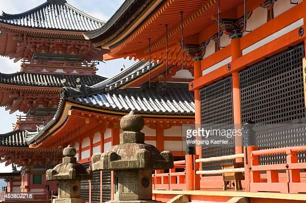 Japan Kyoto Kiyomizu Temple In Winter Pagoda
