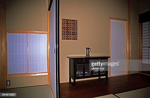 Neubau im tradtionellen Stil Fenster Schiebetür und Tür aus lichtdurchlässigem Papier