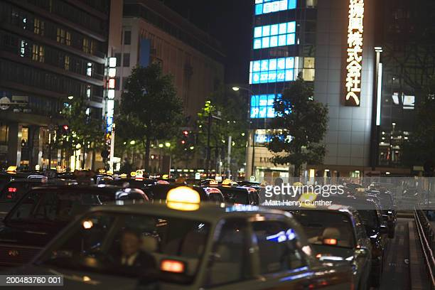 japan, kyoto, street scene, night - henry street stock pictures, royalty-free photos & images