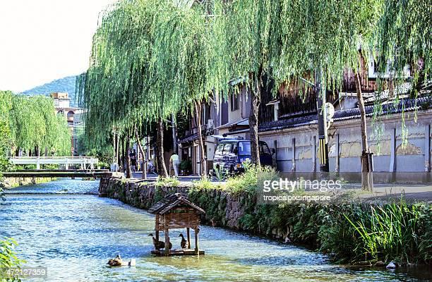 日本、京都、川を運んでいる。