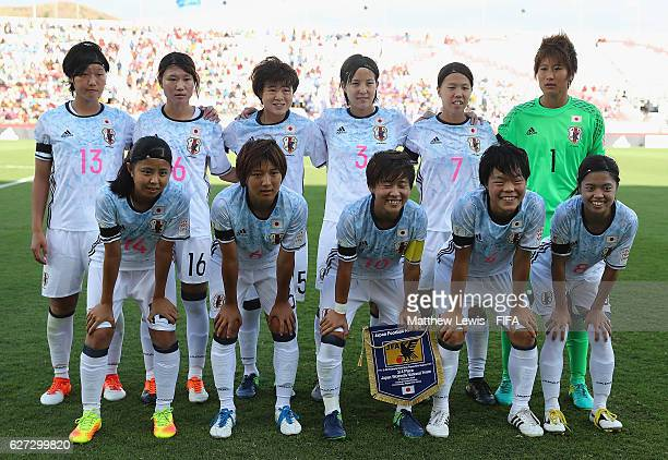 Japan line up against USA during the FIFA U20 Women's World Cup Papua New Guinea 2016 Third Place Play Off match between USA and Japan at the...