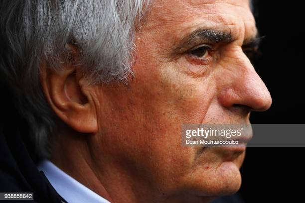 Japan Manager / Head coach Vahid Halilhodzic looks on prior to the International friendly match between Japan and Ukraine held at Stade Maurice...