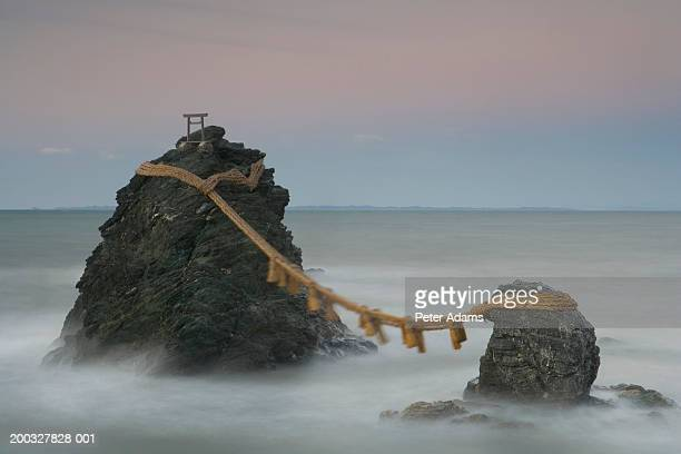 Japan, Meoto Iwa, Wedded Rocks and shimenawa rope