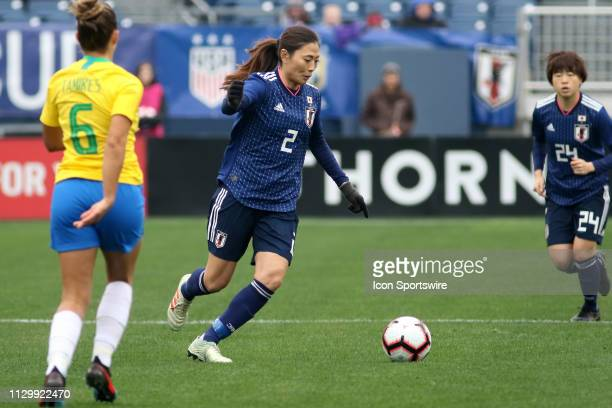 Japan midfielder Rumi Utsugi during the SheBelieves Cup match between Brazil and Japan at Nissan Stadium on March 2nd 2019 in Nashville Tennessee