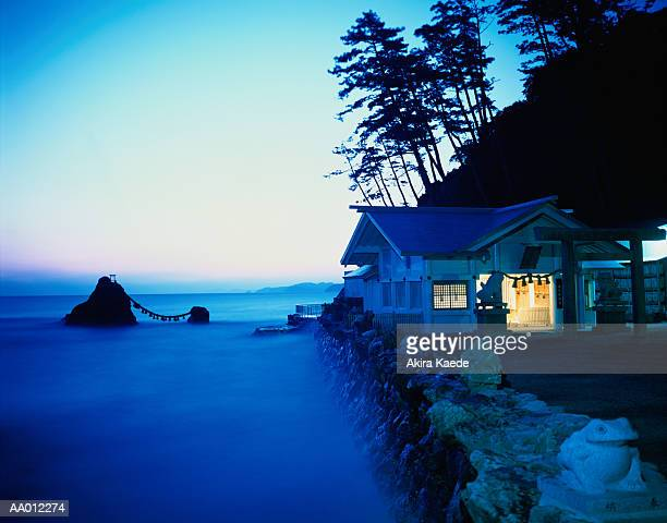 Japan, Mie Prefecture, Futami, Okitama Shrine, sunrise