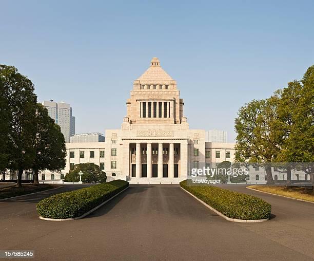 japan national dieta edifício legislatura parlamento kokkai-gijido primavera de tóquio - edifício do parlamento - fotografias e filmes do acervo