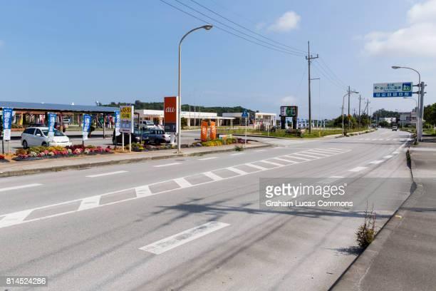 Japan National Route 58 Highway in Kunigami, Okinawa, Japan