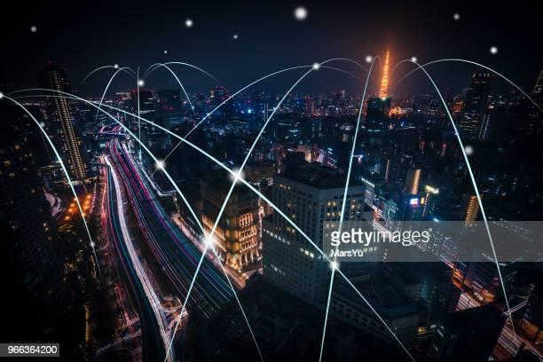 japan-netzwerk - international landmark stock-fotos und bilder