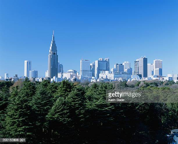 japan, nishi-shinjuku ward, city skyline, mar 2004 - 新宿区 ストックフォトと画像