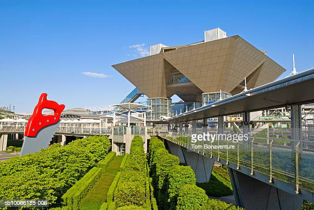 japan, odaiba, international exhibition centre - tokyo big sight stock photos and pictures