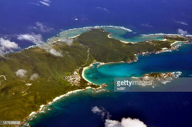 japan okinawa aerial view - okinawa prefecture stock pictures, royalty-free photos & images