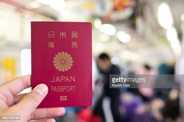 japan passport, travel concept - パスポート ストックフォトと画像