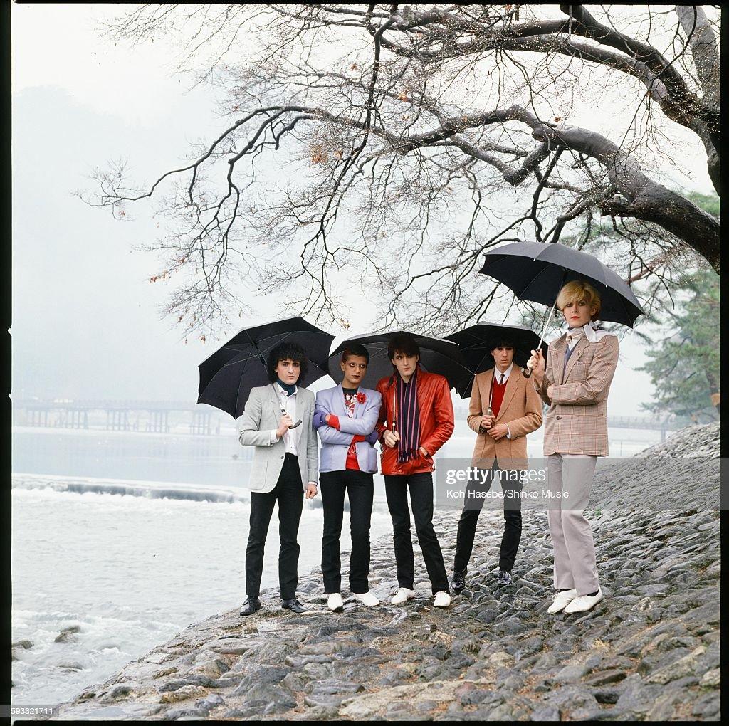 Japan Photo Session At The Riverside In Rainy Arashiyama Kyoto : News Photo