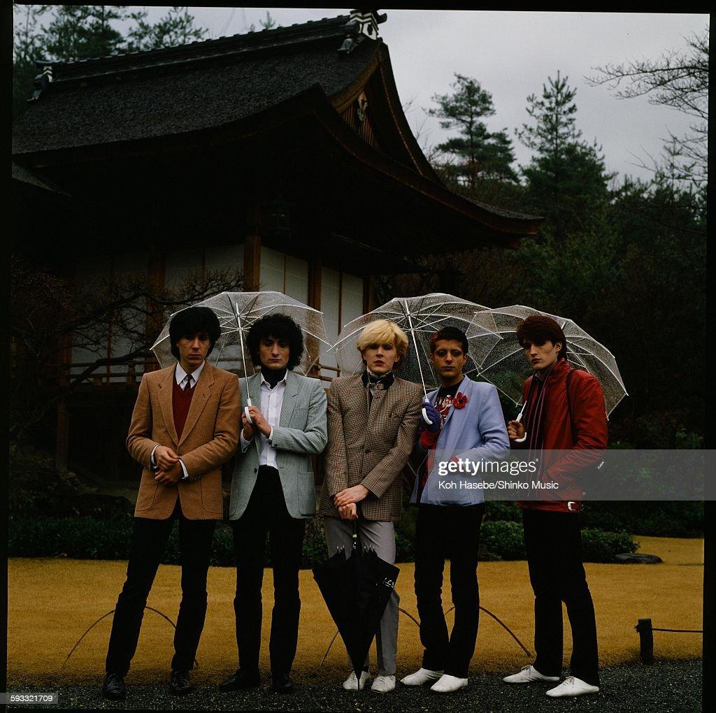 Japan Photo Session In Front Of Okochi Mountain Villa In Rainy Arashiyama Kyoto : News Photo
