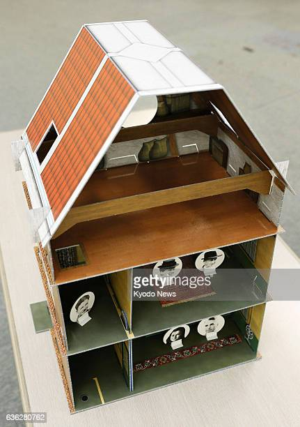 TOKYO Japan Photo shows a miniature model of the house where Anne Frank went into hiding during World War II donated to Tokyo's Suginami Ward from...