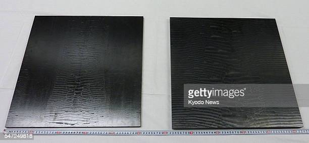 TOKYO Japan Photo shows carbon fiber plates of the type suspected of being illegally exported by a Kureha Corp subsidiary and its former manager...
