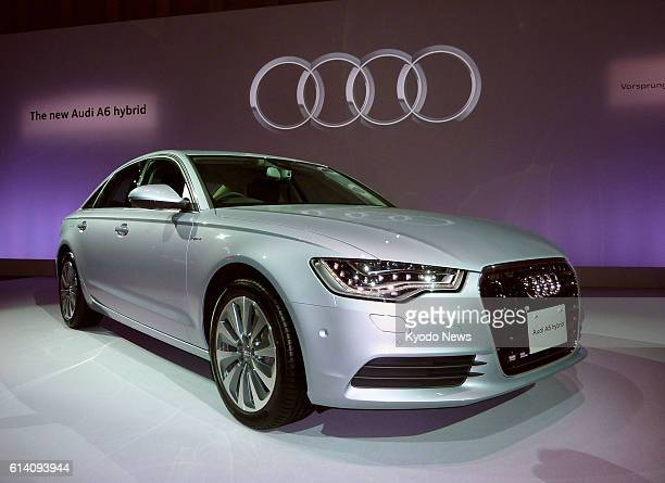 TOKYO Japan Photo shows the Audi A6 hybrid car in Tokyo on Sept 24 2012 Audi Japan began selling the Audi A6 in Japan the automaker's first launch of...