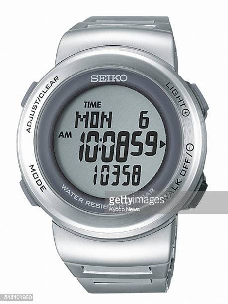 TOKYO Japan Photo shows the Prospex Pedo Walking SBDE001 digital watch with a pedometer function which Seiko Watch Corp will begin selling in Japan...