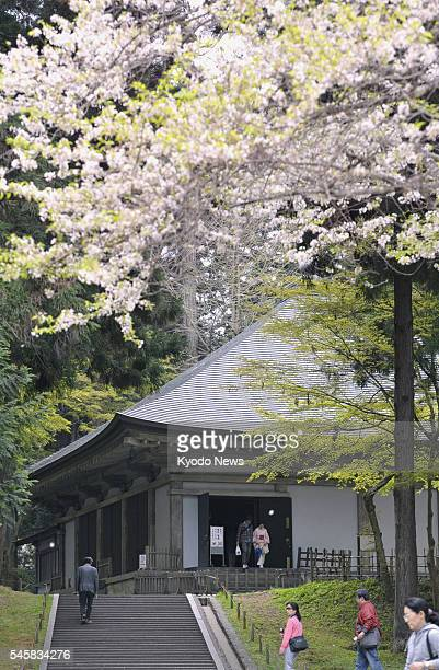 HIRAIZUMI Japan Photo taken May 7 shows Chusonji a Buddhist temple in Hiraizumi Iwate Prefecture An advisory panel to UNESCO has recommended...