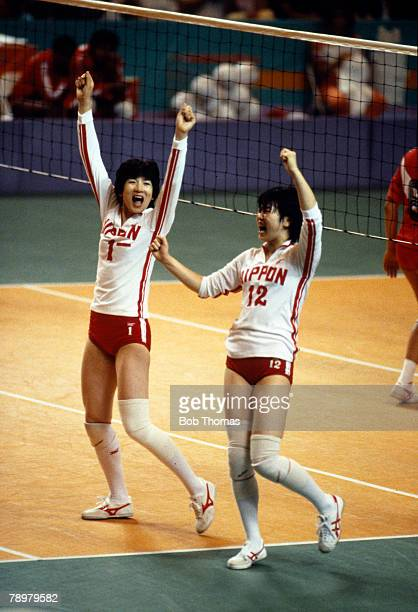 Sport 1984 Olympic Games in Los Angeles Womens Volleyball 3rd/4th place Match Japan 3 v Peru 1 Japan Bronze medal