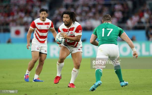Japan player Shota Horie in action during the Rugby World Cup 2019 Group A game between Japan and Ireland at Shizuoka Stadium Ecopa on September 28,...