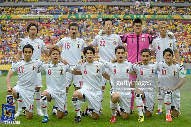 Japan pose for a team group before the start of the FIFA Confederations Cup Brazil 2013 Group A match between Brazil and Japan at the National...