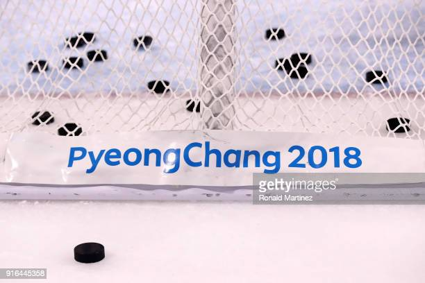 Japan prepares to play Sweden during the Women's Ice Hockey Preliminary Round Group B match on day one of the PyeongChang 2018 Winter Olympic Games...