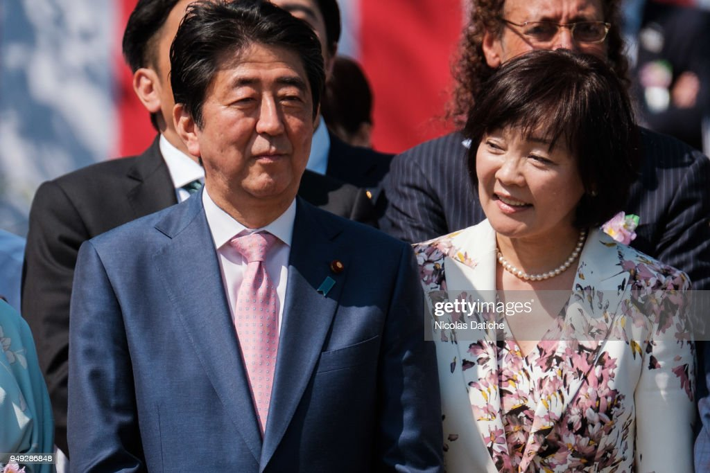Japanese Prime Minister Shinzo Abe Attends Cherry Blossom Viewing