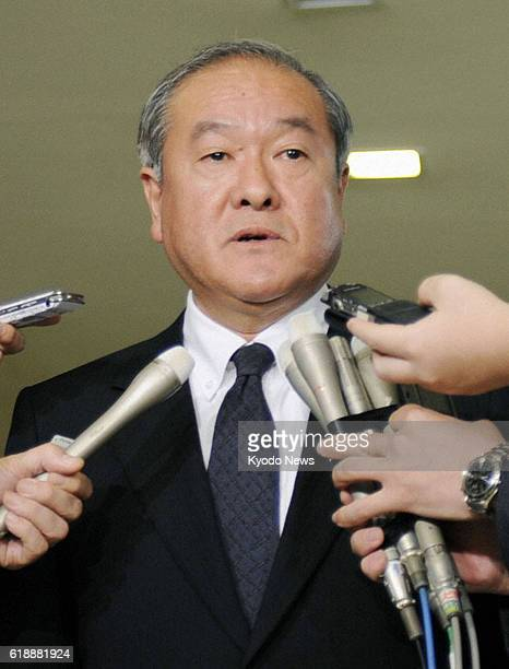 TOKYO Japan Senior Vice Foreign Minister Shunichi Suzuki meets the press at the ministry in Tokyo on Jan 22 ahead of his departure for Algeria later...