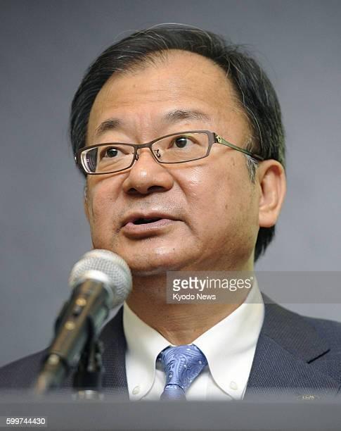 TOKYO Japan Sharp Corp President Takashi Okuda speaks at a press conference in Tokyo on Aug 2 2012 Okuda said Sharp will slash 5000 jobs or 9 percent...