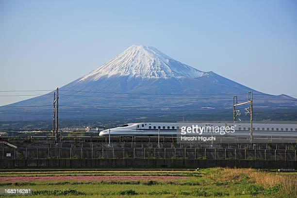 Japan, Shinkansen and Mt. Fuji