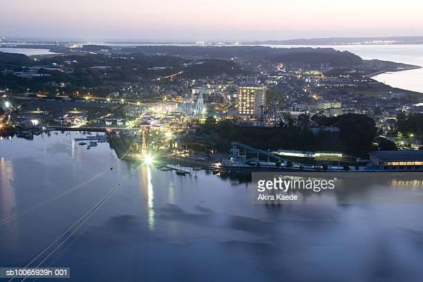 Japan, Shizuoka, Hamamatsu City, Hamana Lake, elevated view