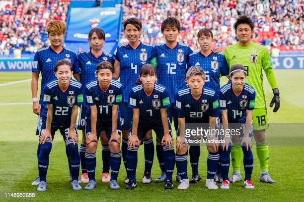 Japan Squad pose for photos Yuika Sugasawa Aya Sameshima Saki Kumagai Moeka Minami Hina Sugita Ayaka Yamashita Risa Shimizu Narumi Miura Emi Nakajima...