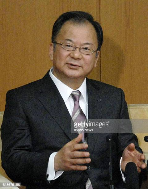 OSAKA Japan Takashi Okuda president of major electronics maker Sharp Corp speaks with reporters in Osaka on Jan 7 2013 Okuda said Sharp plans to...