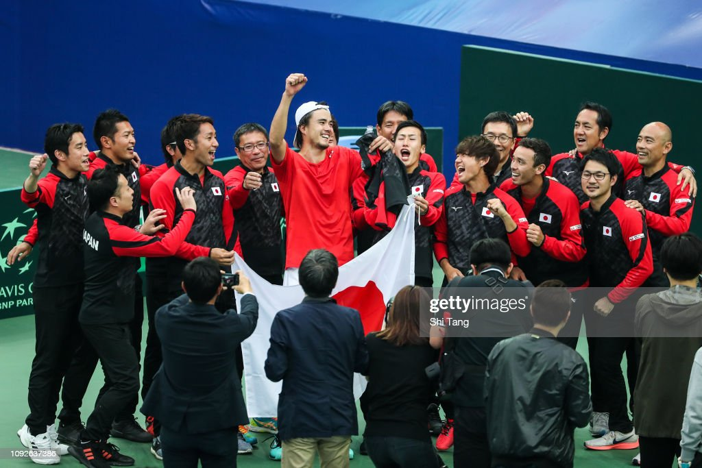 Davis Cup Qualifiers Round: China v Japan - Day 2 : ニュース写真
