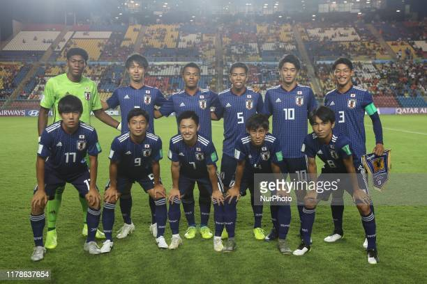 Japan team lineup prior the Group D Match between Japan and Netherlands in the FIF U17 World Cup Brazil 2019 on October 27 2019 in Vitoria Brazil