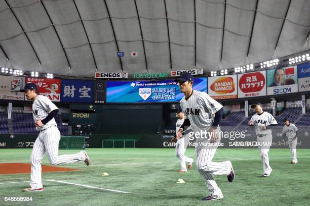 Japan teams in action during on March 6 2017 in Tokyo Japan
