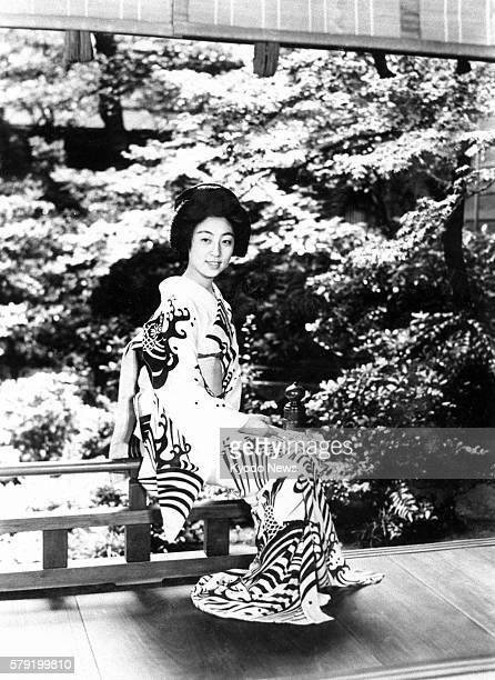 TOKYO Japan The file photo shows a geisha in an unknown location The undated photo was taken in the early Showa era