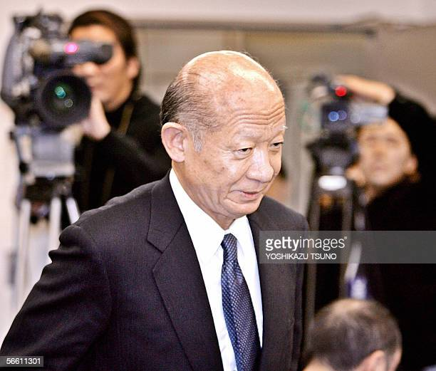 The Tokyo Stock Exchange President Taizo Nishimuro enters a conference room to have press conference at the TSE in Tokyo 18 January 2006 The TSE said...